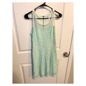 Xhilaration Mint Green Racerback Lace Dress